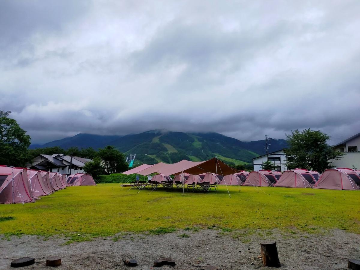 snowpeak スノーピークランドステーション⽩⾺ キャンピングトレーラー 白馬 白馬村 northface ノースフェイス