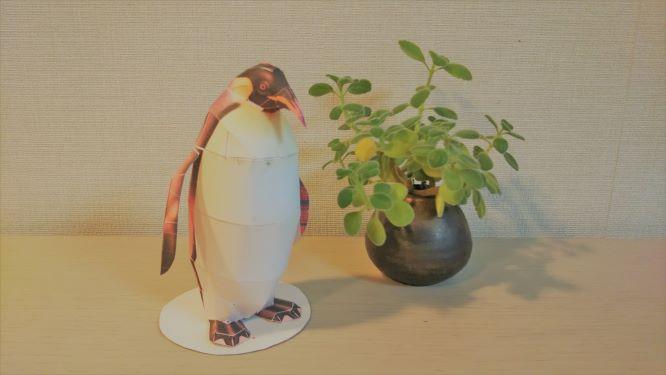 ペーパークラフトのペンギン
