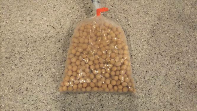 農家さんからもらった大豆の様子。