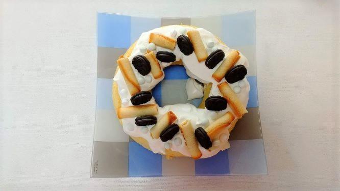 シフォンケーキで作ったケーキの様子