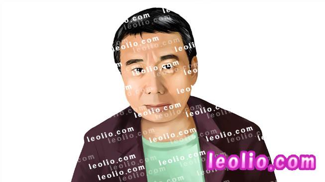 村上春樹 の 似顔絵イラスト