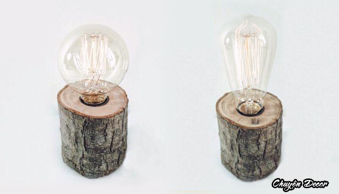 木の幹ライト
