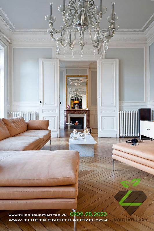 の組み合わせにおける新古典主義と現代のスタイルの高級な組み合わせアパート設計における新古典様式と現代様式の中間レベル