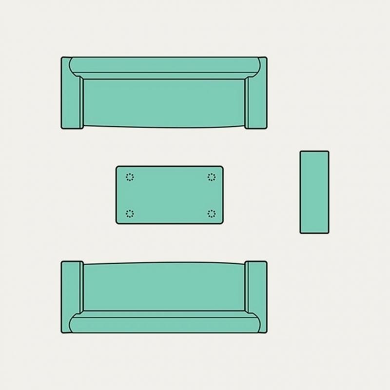 8リビングルームのインテリアスペースの美しいレイアウト