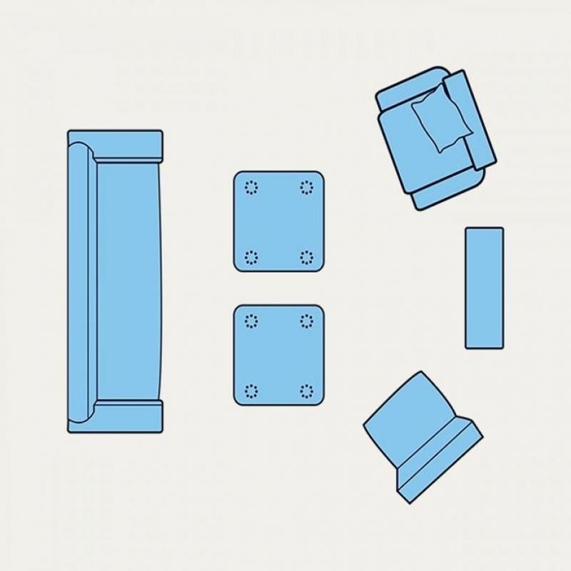 8美しいリビングルームのインテリアスペースのレイアウト