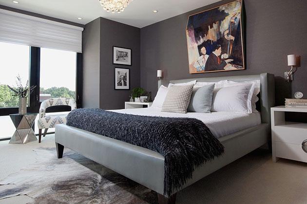 寝室のインテリアの自然光