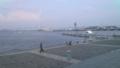パシフィコ横浜前からみた海