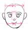 左右対称に顔を描くコツ