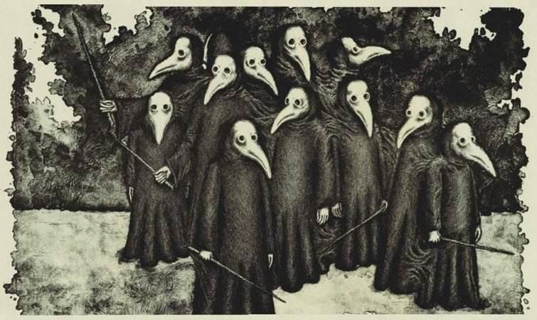 14世紀のヨーロッパで、ペスト病を予防するために作られた防護服
