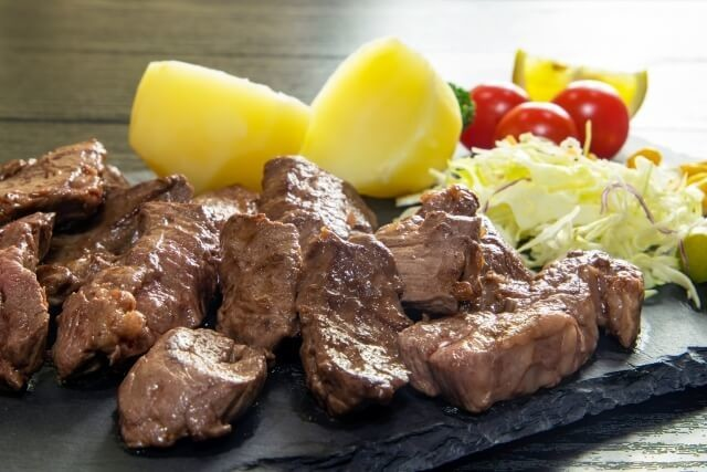 体力増強につながる肉類