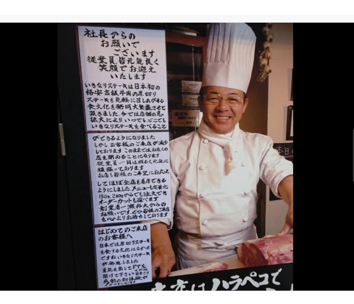 ''いきなり!ステーキ''の広告効果はどちらに傾くのか