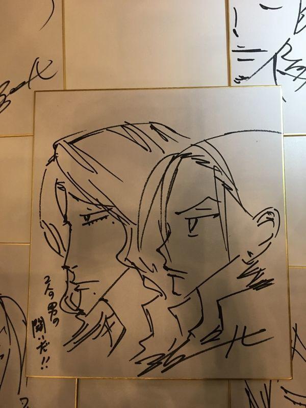 東堂&巻ちゃん横顔バージョン ペダルナイト15 昼の部 キャラ生描きラスト