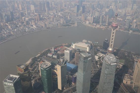 上海中心大廈の展望台