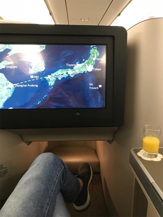 中国東方航空のビジネスクラス