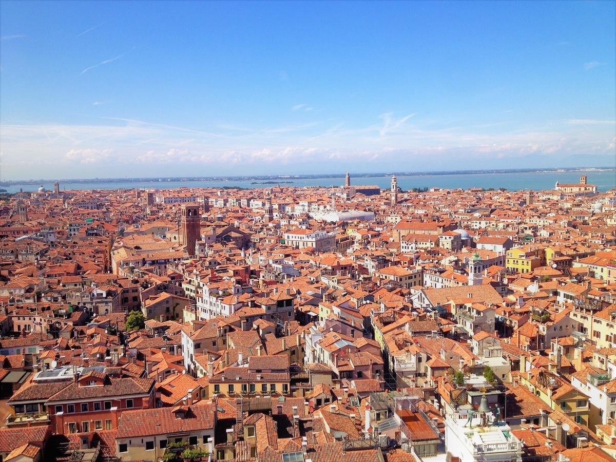 鐘楼から見下ろすベネチア