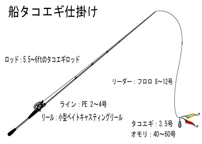 「船タコエギ仕掛け」イメージ