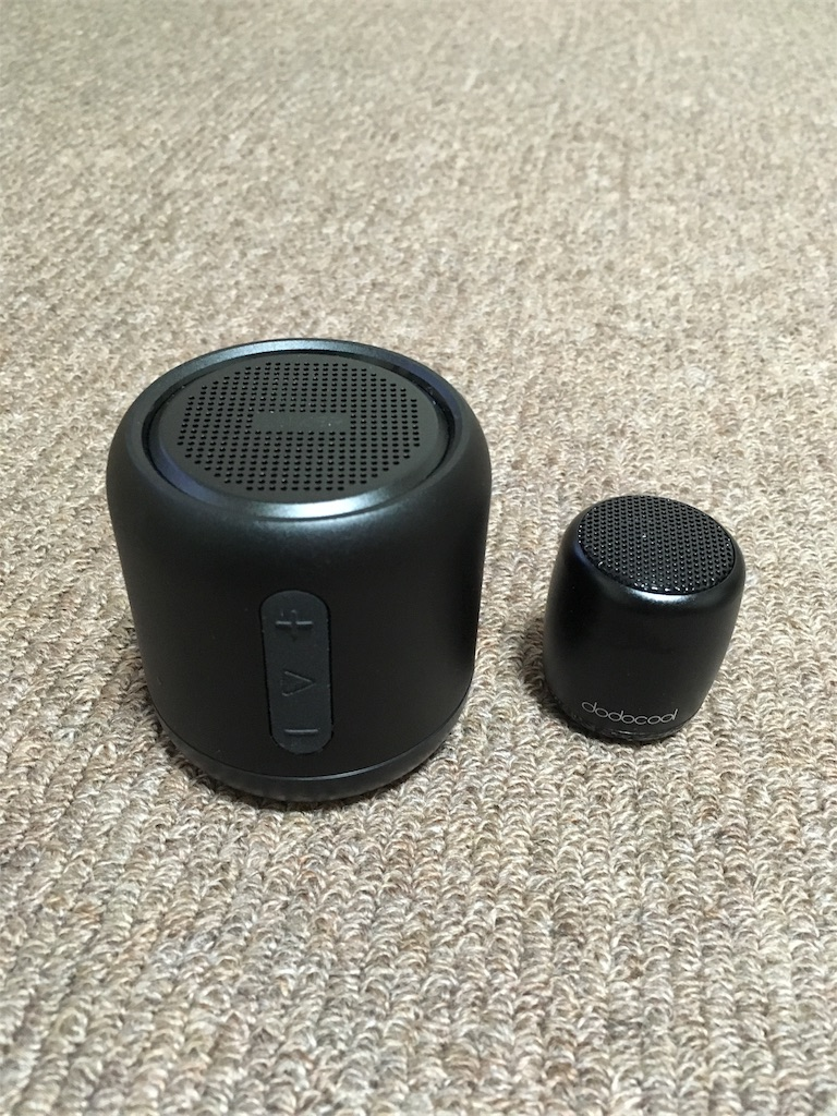 dodocoolミニワイヤレススピーカーとAnker SoundCore mini コンパクト Bluetoothスピーカー