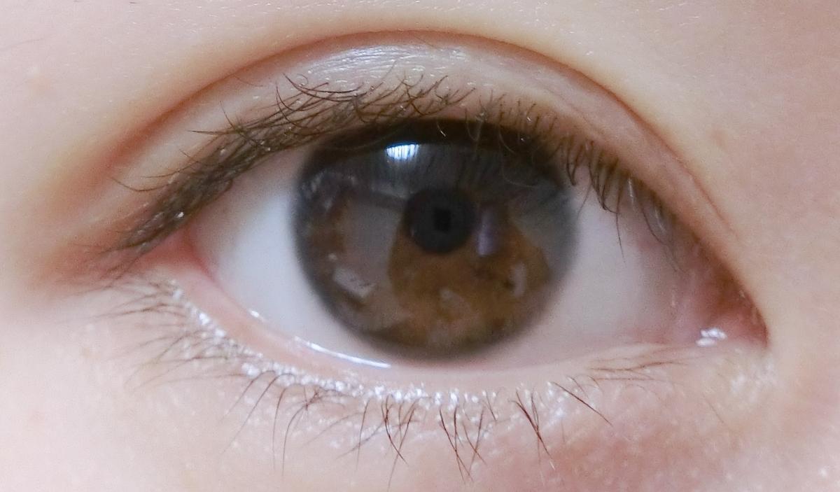 橋本環奈風カラコンをする前の裸眼の画像
