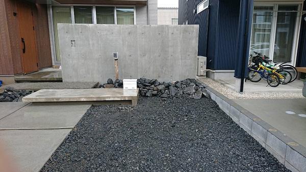 コンクリ-ト打ち放し門壁