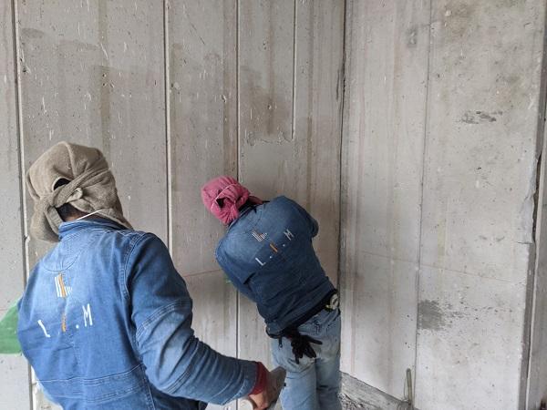 おしゃれな塗り壁