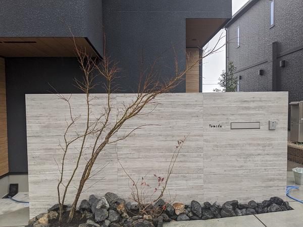 杉板タイル 門壁 名古屋