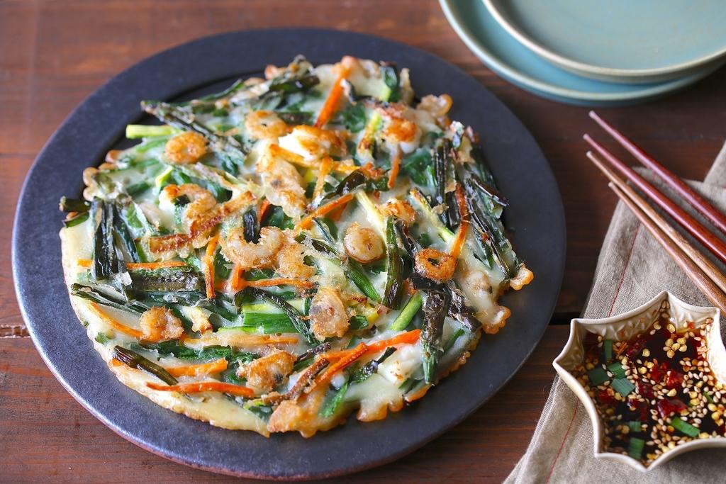 海鮮チヂミ 韓国語