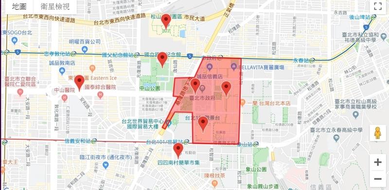 大晦日に開催される台北台中高雄の年越パーティー地圖導覽2