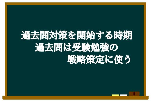 過去問対策を開始する時期過去問は受験勉強の戦略策定に使う