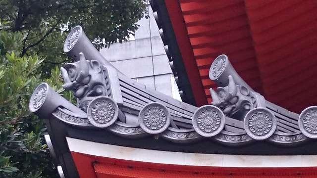 東長寺 五重塔の鬼瓦