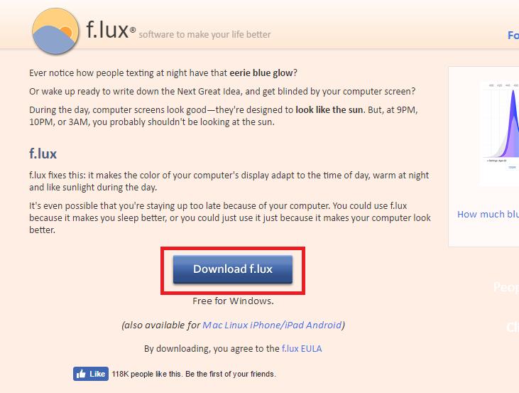 f.luxのダウンロード