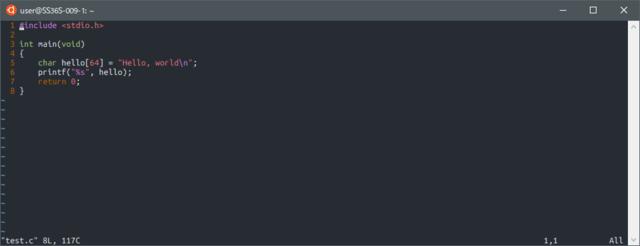 OneHalfDark WSL(vi)