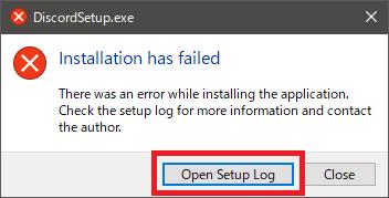 Open Setup Logボタン