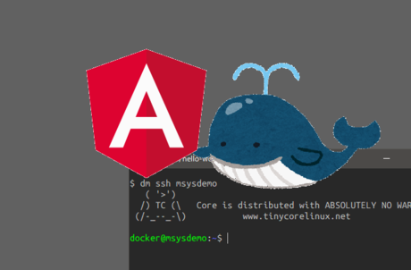 MSYS2 x Docker x Angular