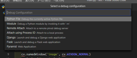 Select a debug configuration