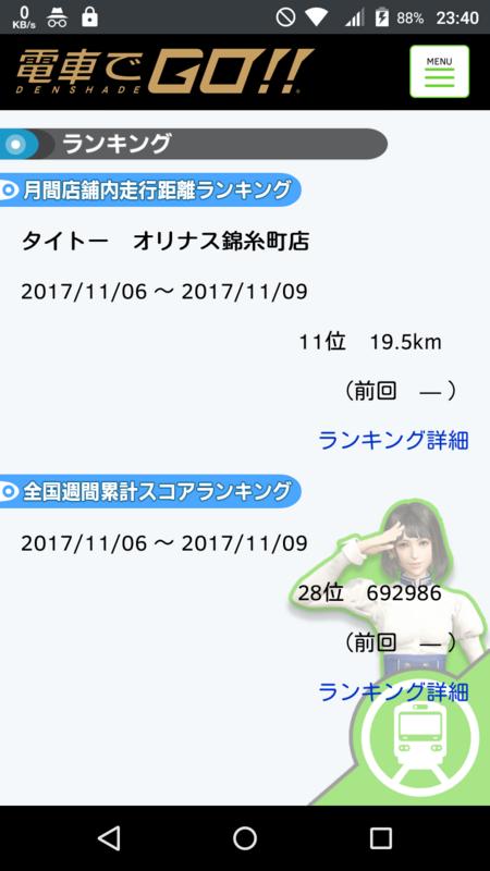 電車でGO!! 11/8 AM8ランキング