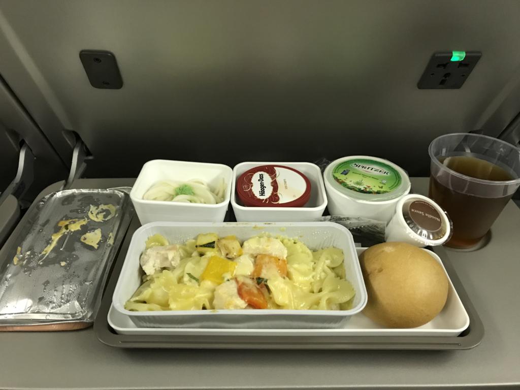キャセイパシフィック航空機内食