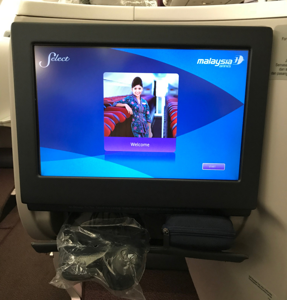 マレーシア航空ビジネスクラスモニター