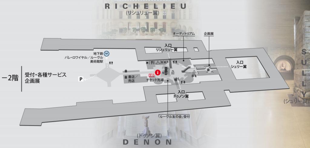 ルーブル美術館館内マップ