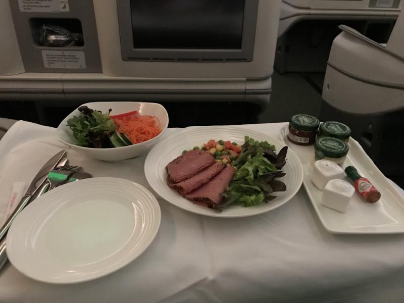 エチオピア航空機内食2