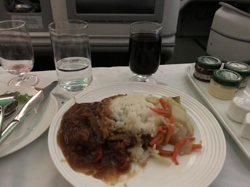 エチオピア航空機内食3