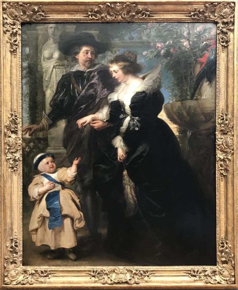 ルーベンスの妻エレーヌ・フールマンと息子ピーテル・パウル
