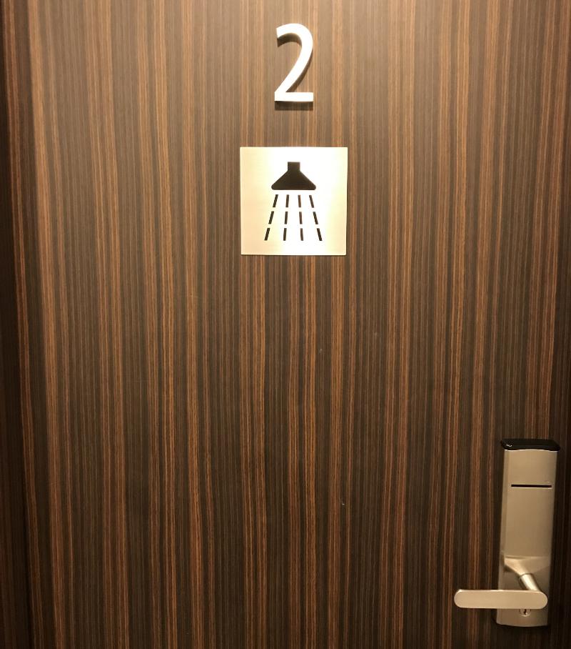 カンタス航空ラウンジシャワールーム