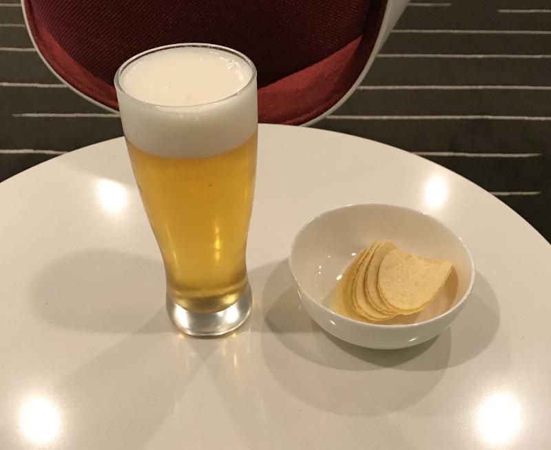 カンタス航空ラウンジ食事