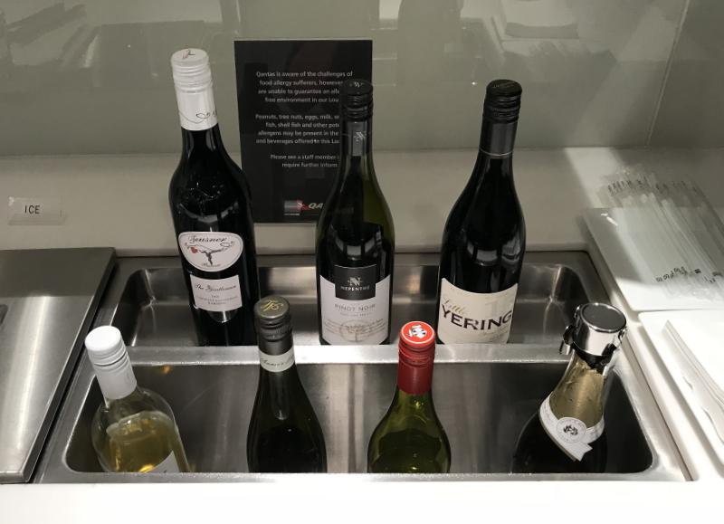 カンタス航空ラウンジワイン