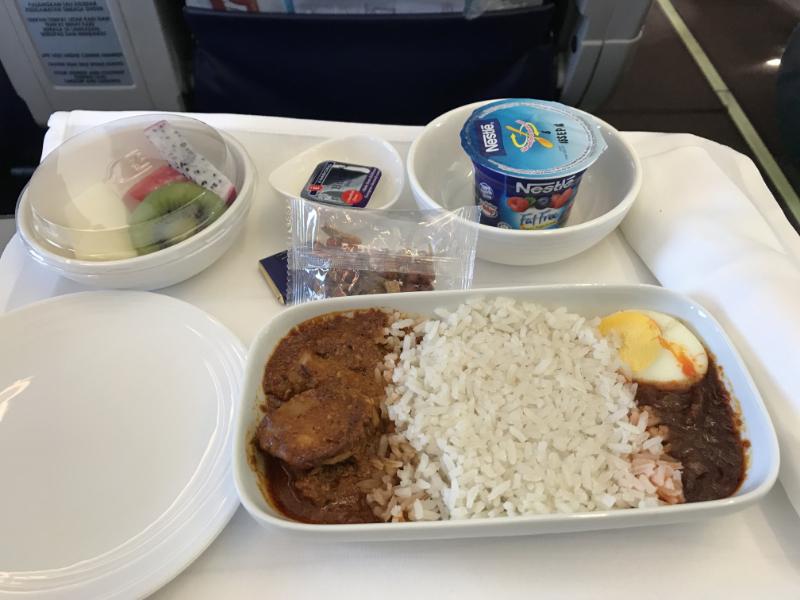 マレーシア航空朝食