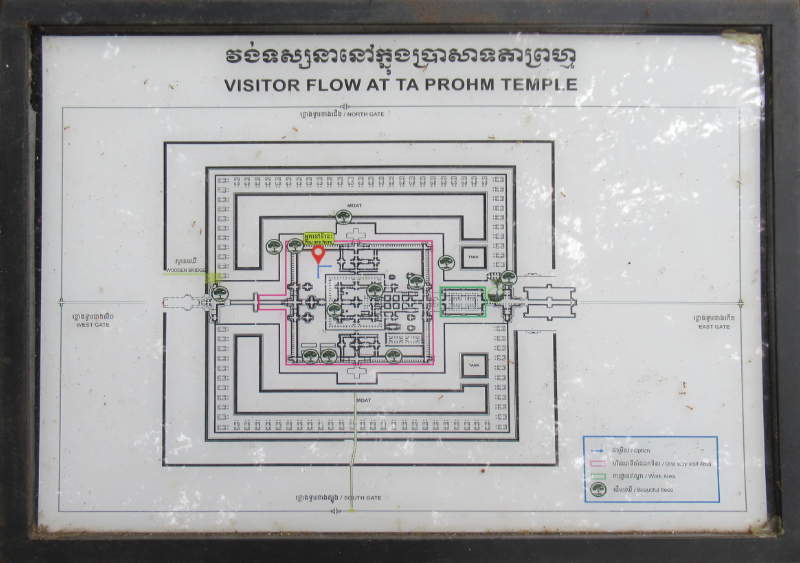 タ・プローム地図