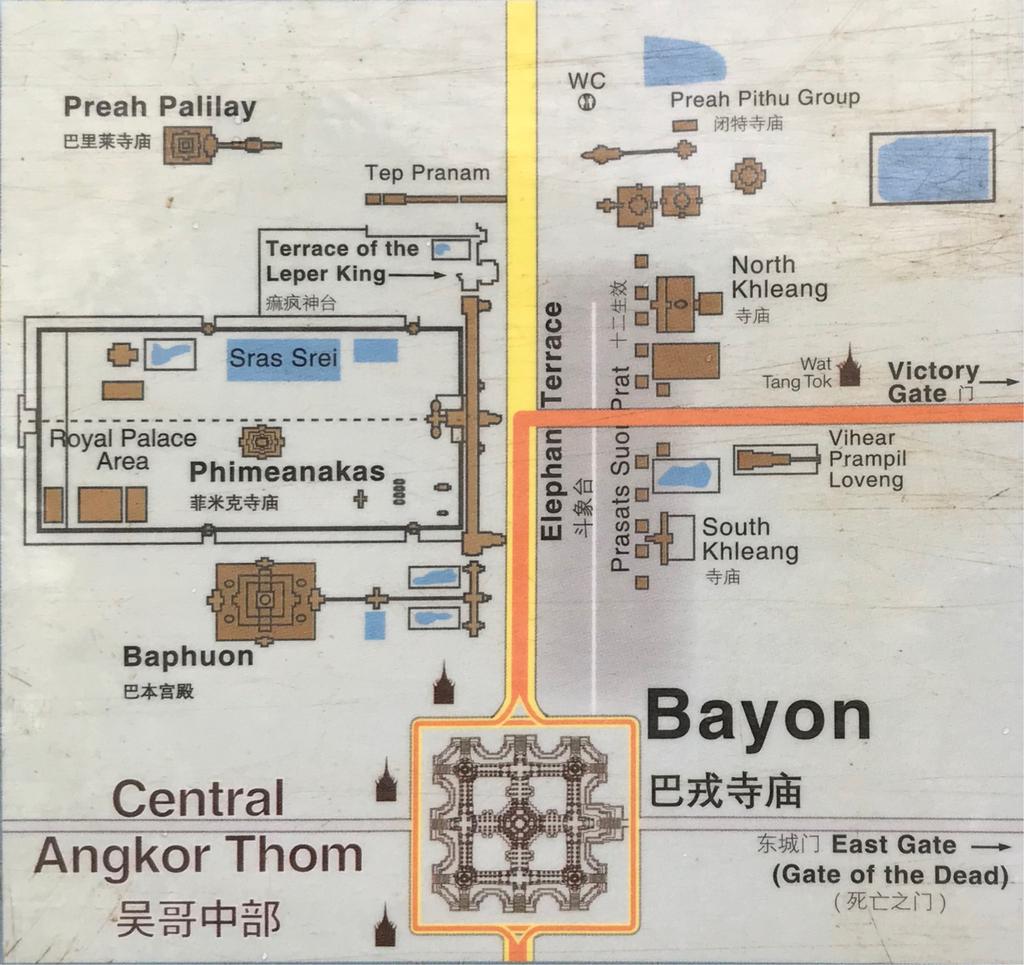 アンコール・トム地図