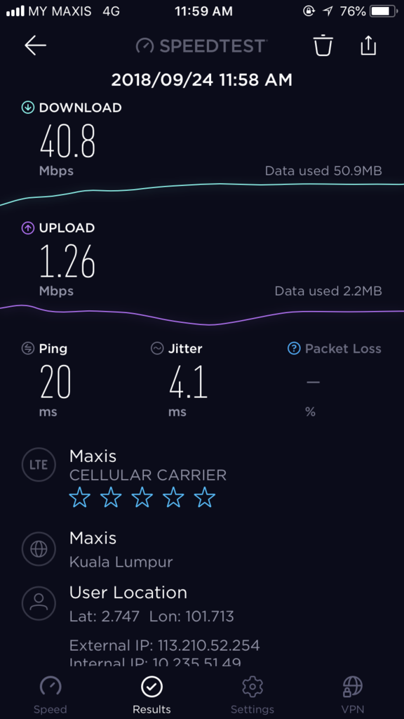Maxis Speed Text