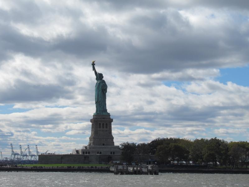 フェリーからの自由の女神像