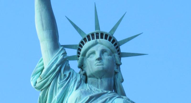 自由の女神像の顔